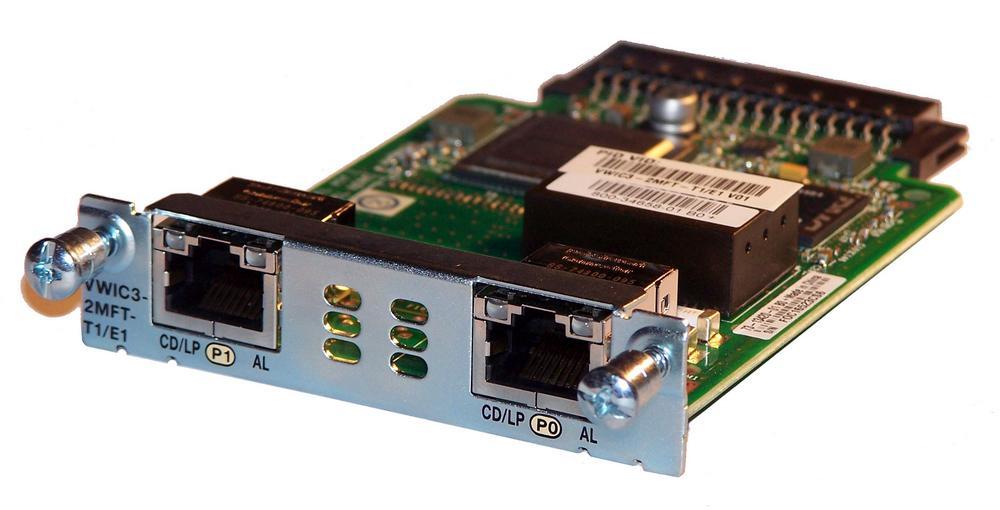 Cisco VWIC3-2MFT-T1/E1 73-13420-01 2-Port Multiflex Trunk Voice Module