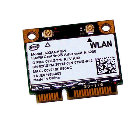 Dell 2GGYM WLAN Mini PCIexpress Card WiFi Intel 622NHMW 802.11a/g/n | 02GGYM Thumbnail 1