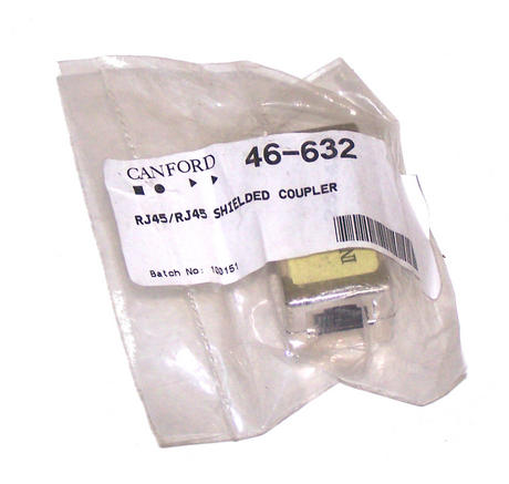 New Canford Audio 46-632 RJ45 <> RJ45 Shielded Coupler