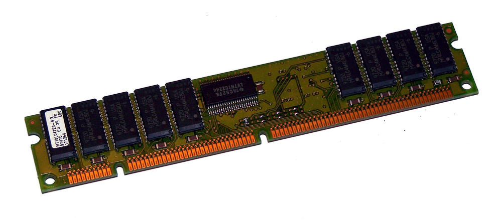 Micron MT18LD472G-6X (32MB EDO ECC 60ns Gold 168-Pin DIMM) Memory Module