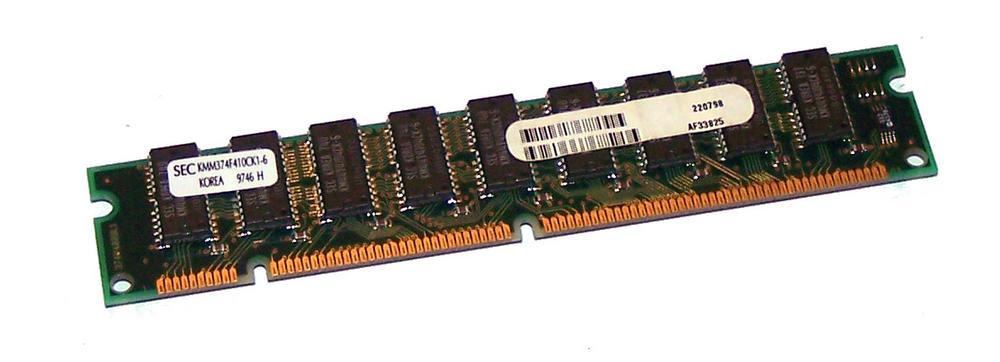 Fujitsu AF33825 32MB EDO ECC 60ns Gold 168-Pin RAM Memory Module - SEC KMM374F41