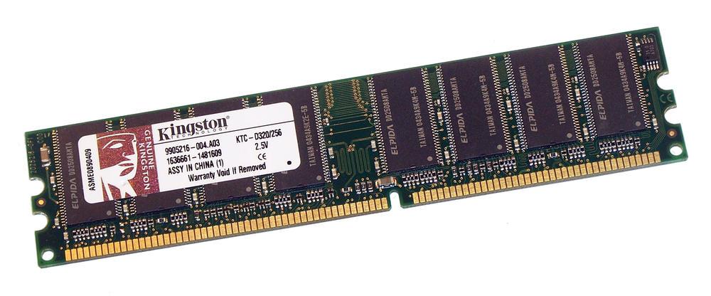 Kingston KTC-D320/256 (256MB DDR PC2700U 333MHz DIMM 184-pin) Memory Module