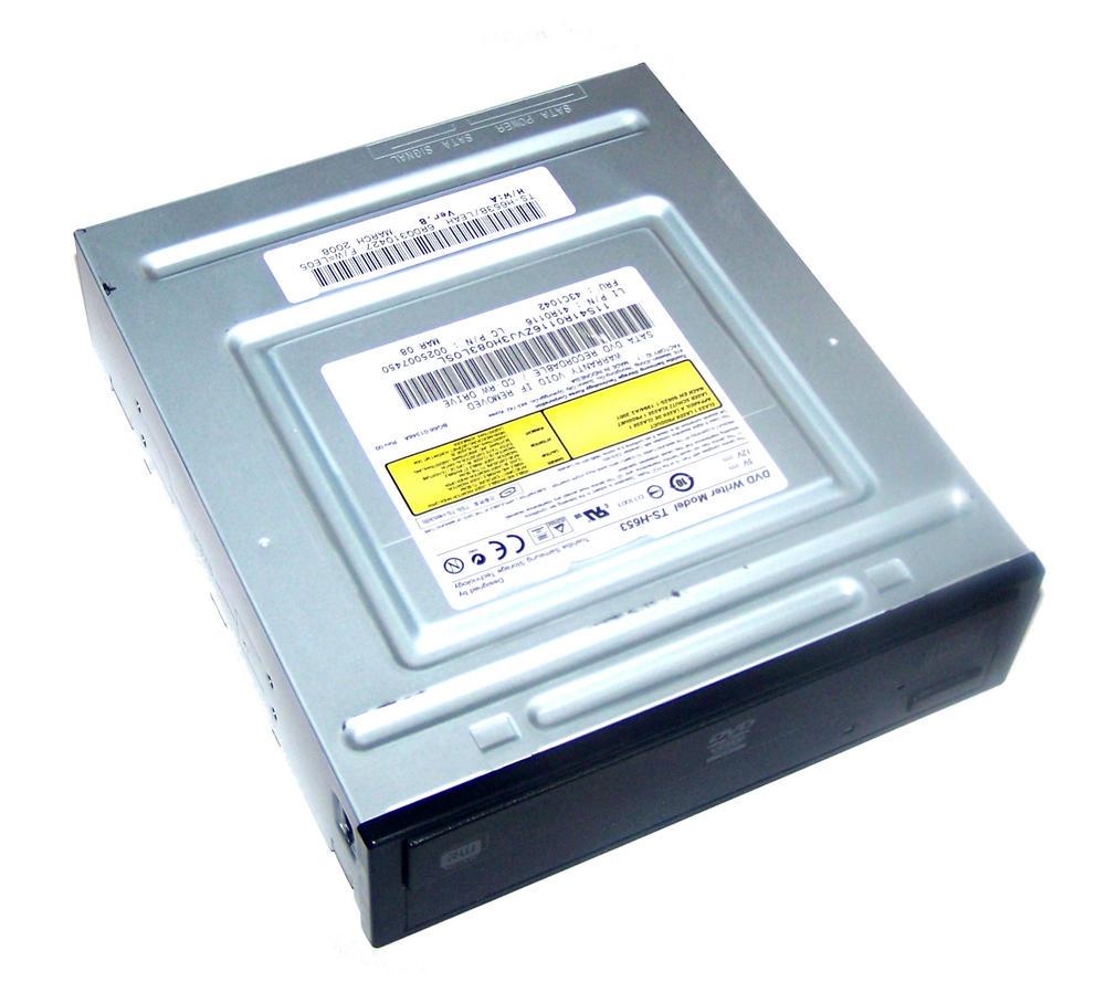 Lenovo 41R0116 SATA H/H DVD-RW Drive with Black Bezel Model TS-H653B FRU 43C1042 Thumbnail 1