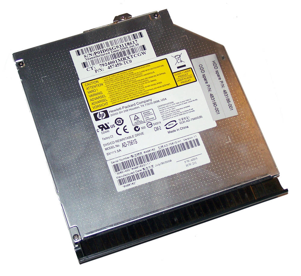 HP 457459-TC0 EliteBook 6930p DVD+R DL Drive AD-7561S | SPS 483190-001