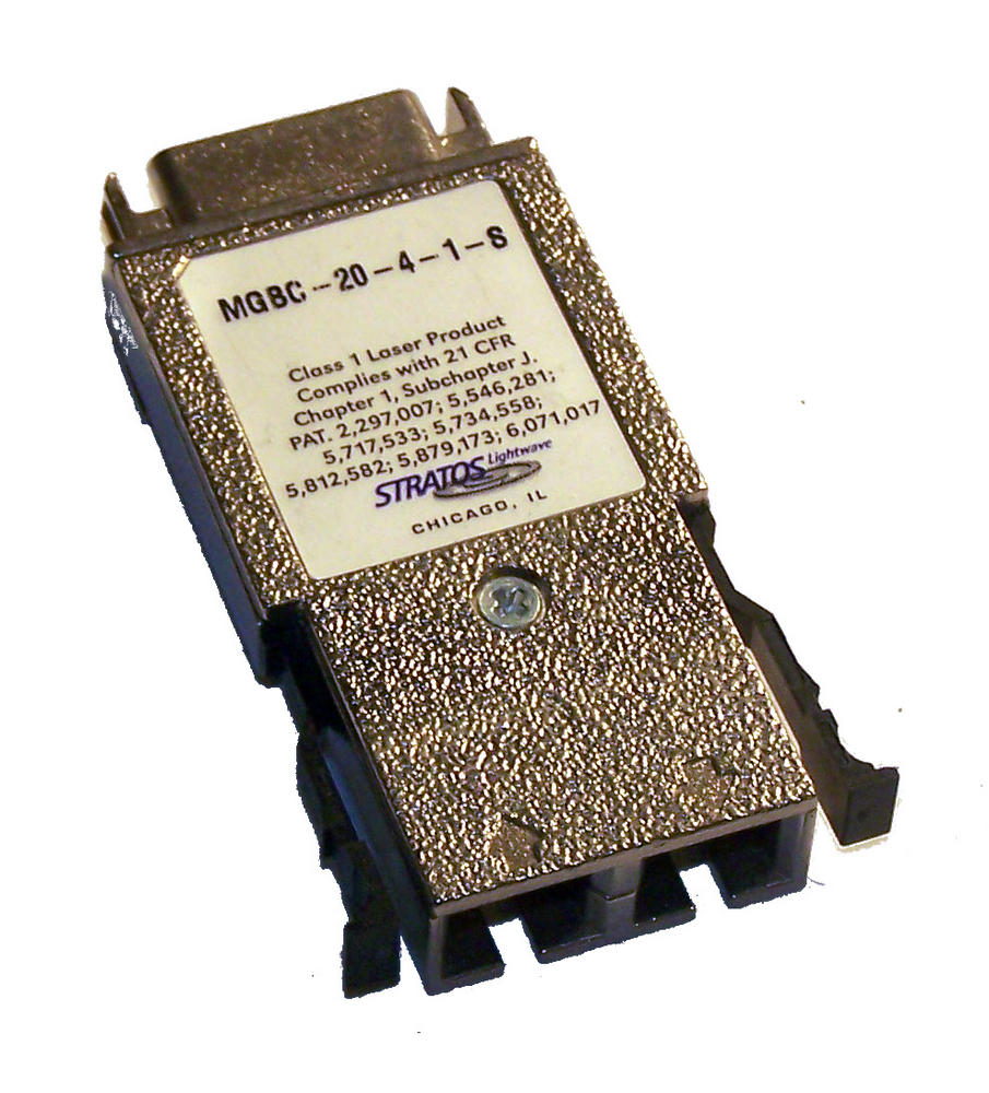 Stratos Lightwave MGBC-20-4-1-S 1000BASE-SX 850nm GBIC Transceiver