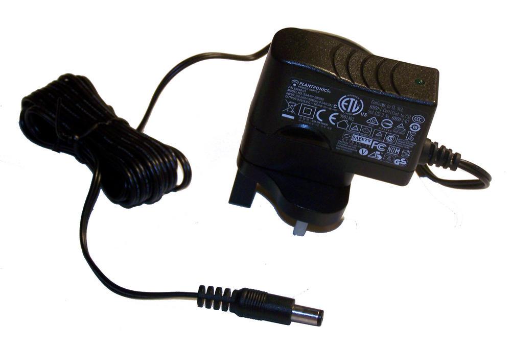 Plantronics 83648-01 SSA-5W 090050 UK 9VDC 500mA AC Adapter / Charger