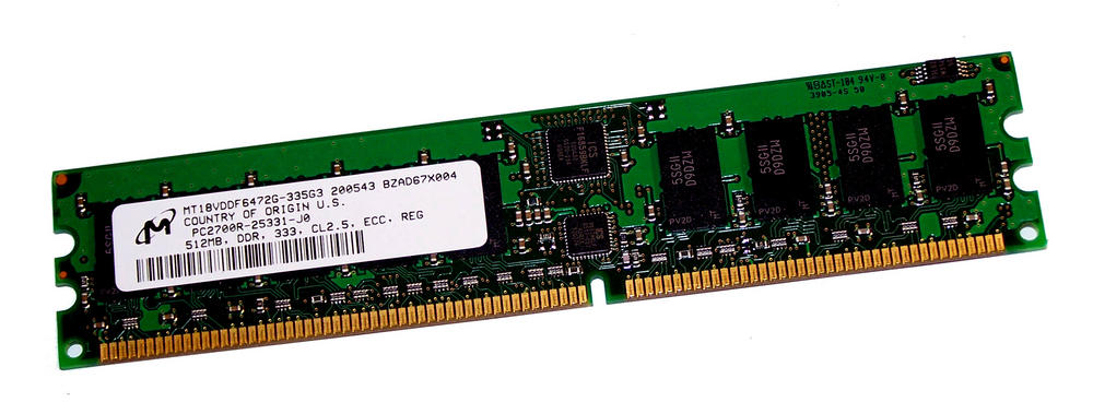 Micron MT18VDDF6472G-335G3 (512MB PC2700R ECC Registered Server 184-Pin DIMM)