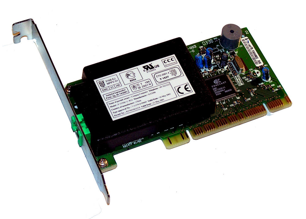 HP 5187-4614 Presario S7150UK Conexant PCI 56K V.92 Modem Card Thumbnail 1