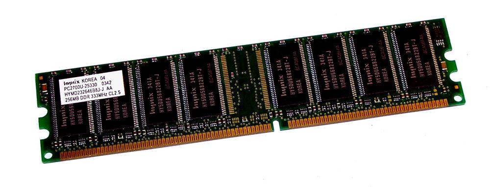 Hynix HYMD232646B8J-J AA (256MB DDR PC2700U 333MHz DIMM 184-pin) Memory Module Thumbnail 1