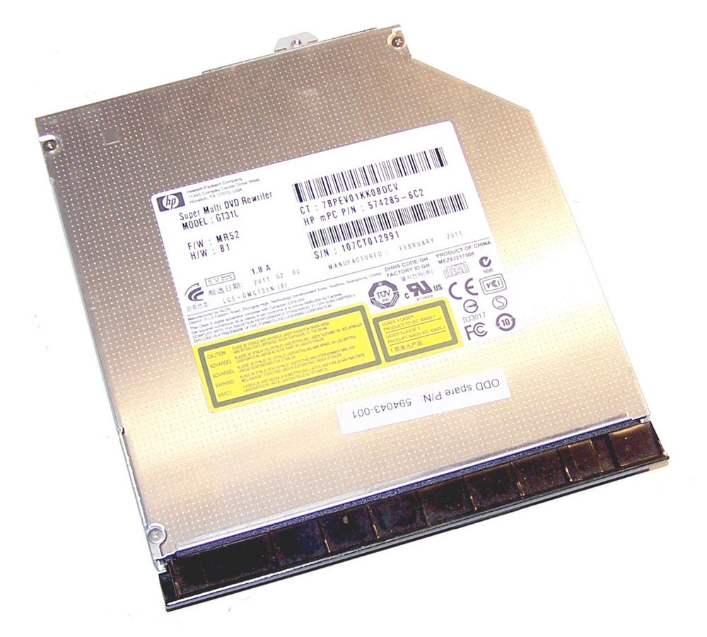HP 574285-6C2 EliteBook 8440p DVD+R DL Optical Drive | LG GT31L SPS 594043-001