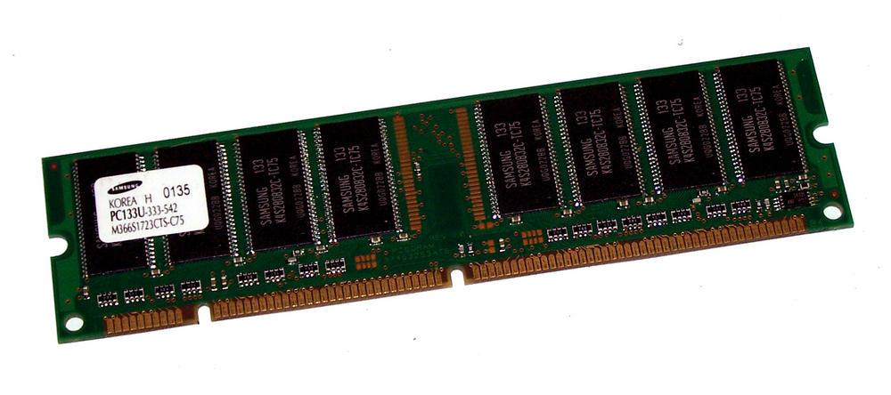 Samsung M366S1723CTS-C75 (128MB SDRAM PC133U 133MHz DIMM 168-pin) Memory
