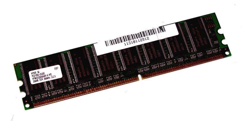 Hynix HYMD232646A8R-H WD (256MB DDR PC2100U 266MHz DIMM 184-pin) Memory Module