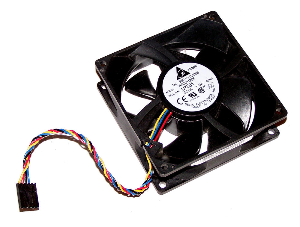 Dell U7581 OptiPlex GX520 GX620 Desktop DCNE 12VDC 1.43A 4-wire Fan   Delta AFC0 Thumbnail 1
