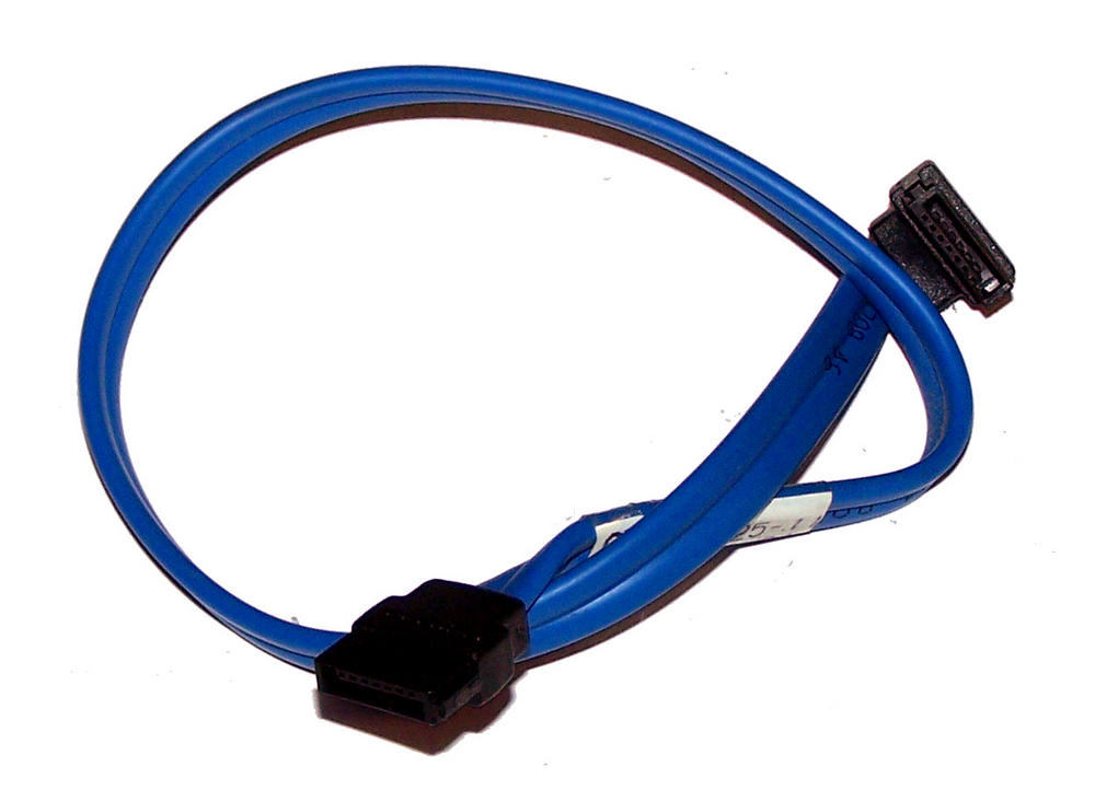 Dell Y5528 Blue 31cm SATA Straight to Angled Cable 0Y5528