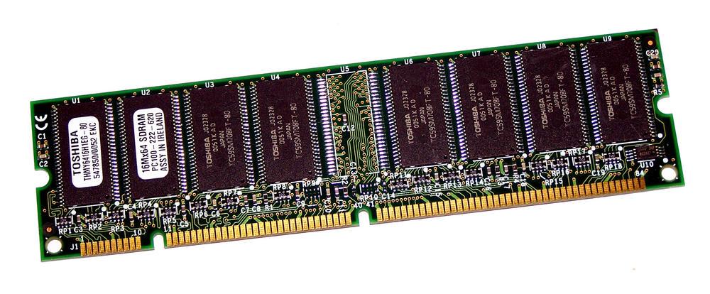 Toshiba THMY6416H1EG-80 (128MB SDRAM PC100U 100MHz DIMM 168-pin) Memory