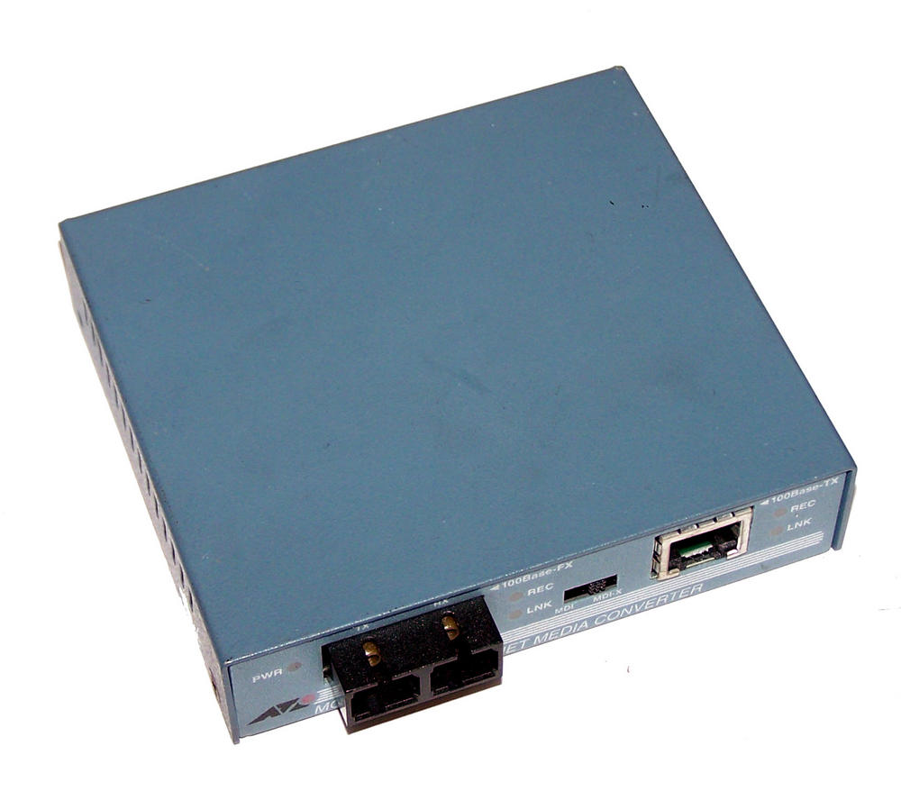 Allied Telesyn AT-MC102 Fast Ethernet Media Converter [No AC Adapter]