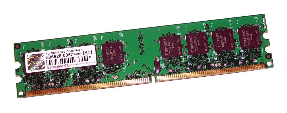 Transcend TS128MLQ64V5J (1GB DDR2 PC2-4200U 533MHz DIMM 240-pin) 16C Std Profile