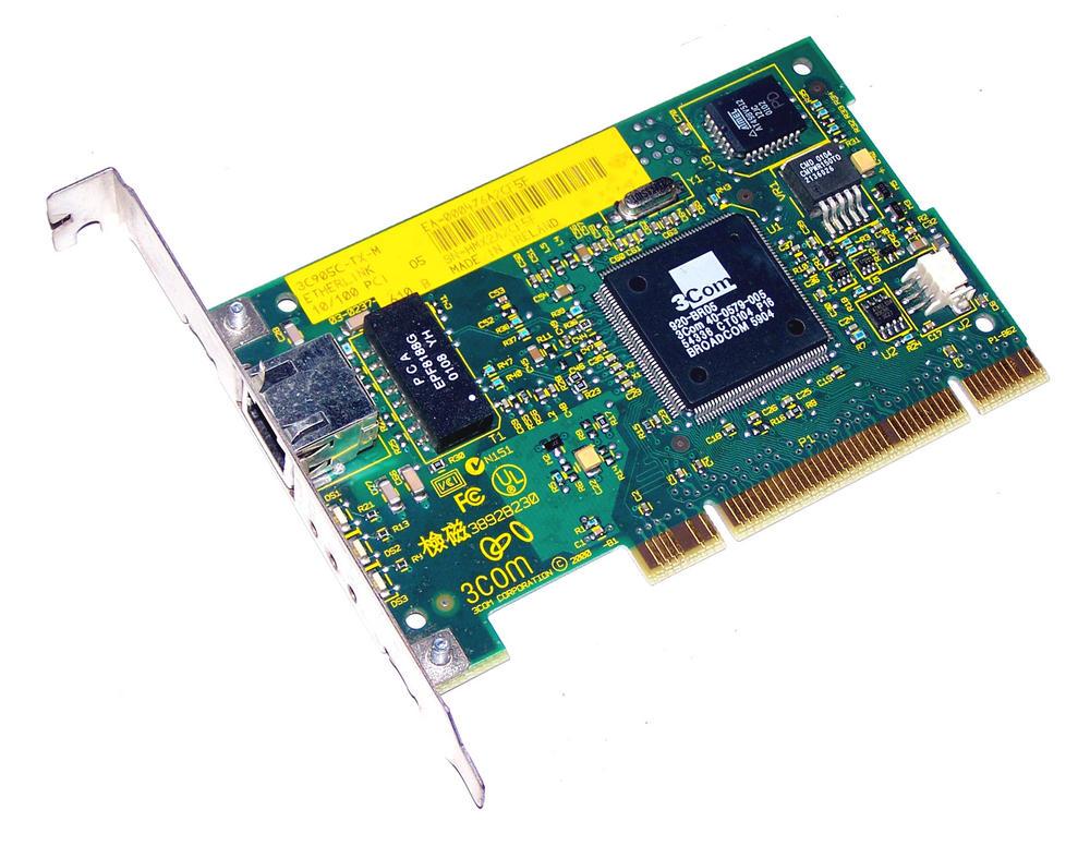 3Com 03-0237-610 3C905C-TX-M PCI 32-Bit 1-Port 10/100 Ethernet Card RJ45