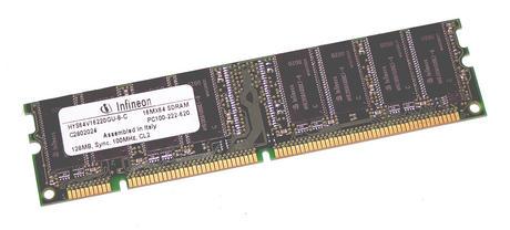 Infineon HYS64V16220GU-8-C (128MB SDRAM PC100U 100MHz DIMM 168-pin) Memory