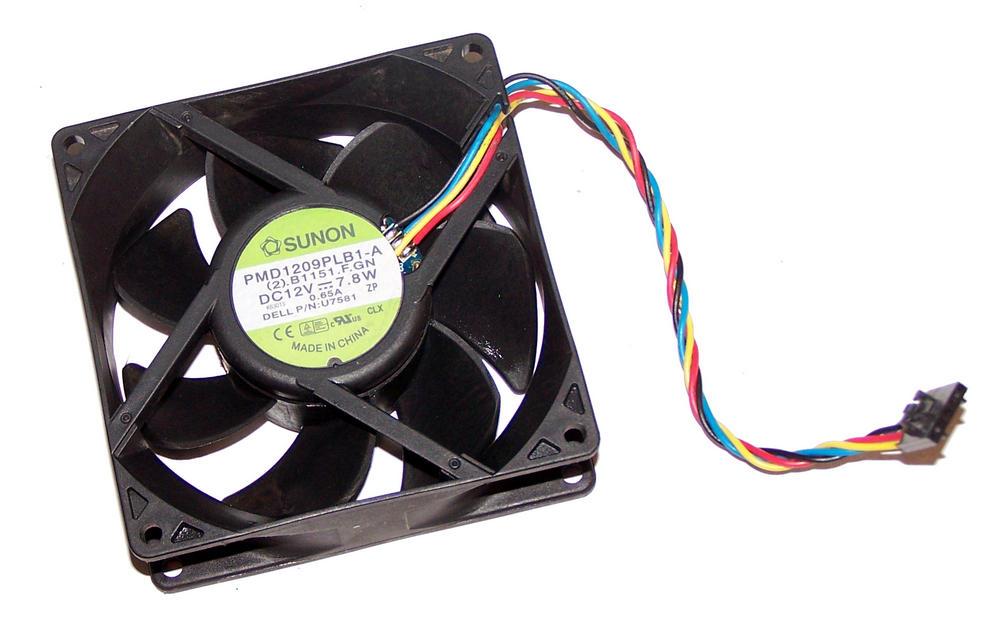 Dell U7581 OptiPlex 745 GX520 GX620 Desktop DCNE 12VDC 0.65A 4-wire Fan | Sunon