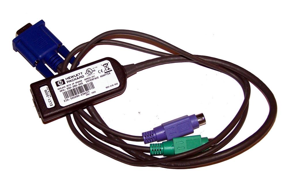 HP 396632-001 Avocent 520-290-50X KVM PS/2 Server Interface Module Thumbnail 1