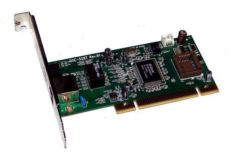D-Link DGE-528T Rev B1 1-Port 10/100/1000 Ethernet Card   Std Profile Bracket