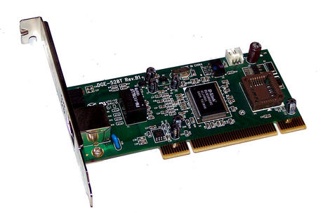 D-Link DGE-528T Rev B1 1-Port 10/100/1000 Ethernet Card | Std Profile Bracket Thumbnail 1