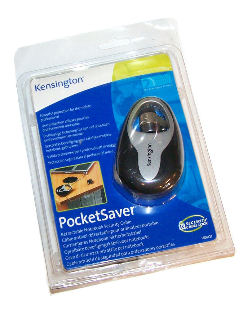 Kensington 1500137 PocketSaver Retractable Security Cable Thumbnail 1