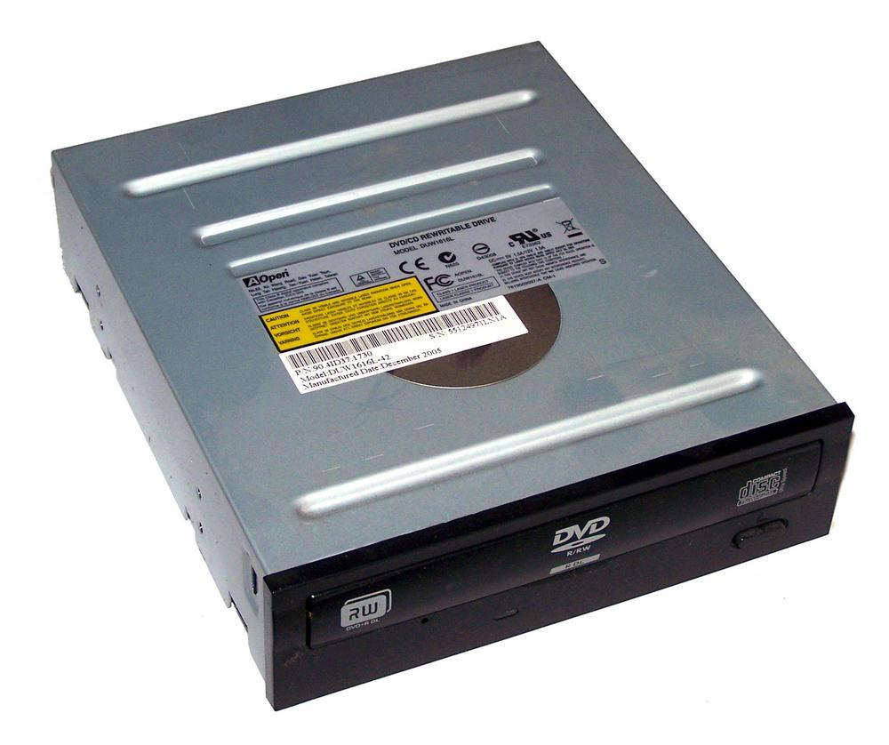 AOpen 90.4ID37.1730 DUW1616L ATA H/H DVD-RW Dual Layer - Black Bezel Thumbnail 1