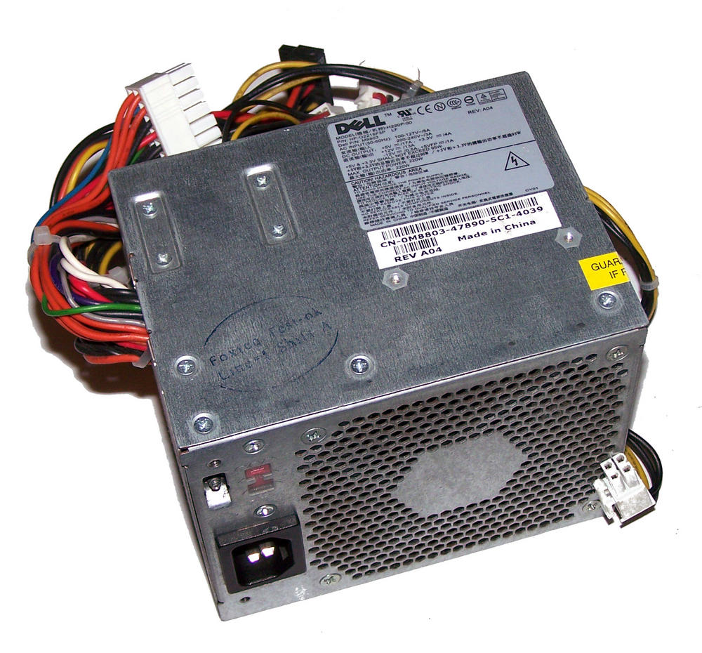 Dell M8803 OptiPlex GX520 model DCNE 220W Power Supply (Small Desktop) | 0M8803 Thumbnail 1