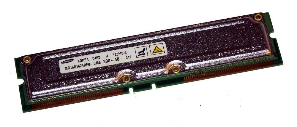 Samsung MR16R1624DF0-CM8 (128MB RDRAM 400MHz RIMM 800-40) RAM Module