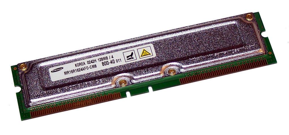 Samsung MR16R1624AF0-CM8 (128MB RDRAM 400MHz RIMM 800-40) RAM Module