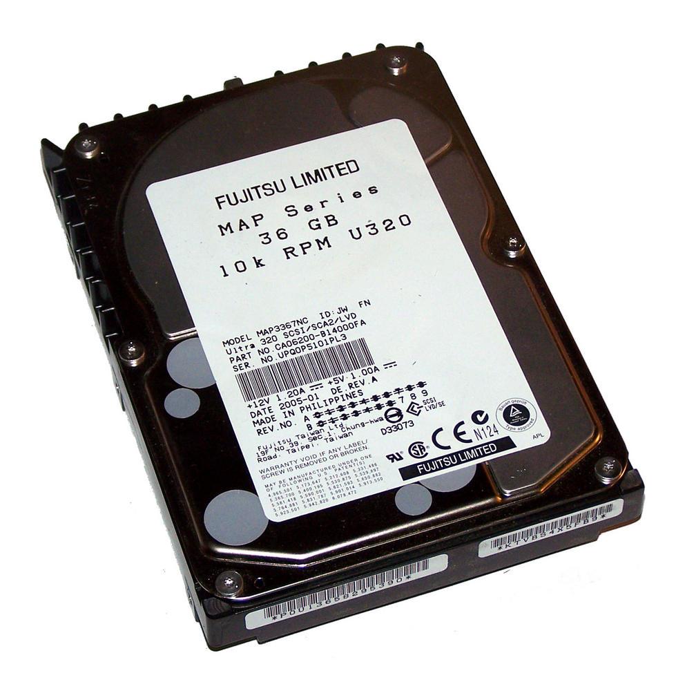 "Fujitsu MAP3367NC 36.4GB 10K 3.5"" U320 SCSI 80-Pin HDD Rev B=7 CA06200-B14000FA"