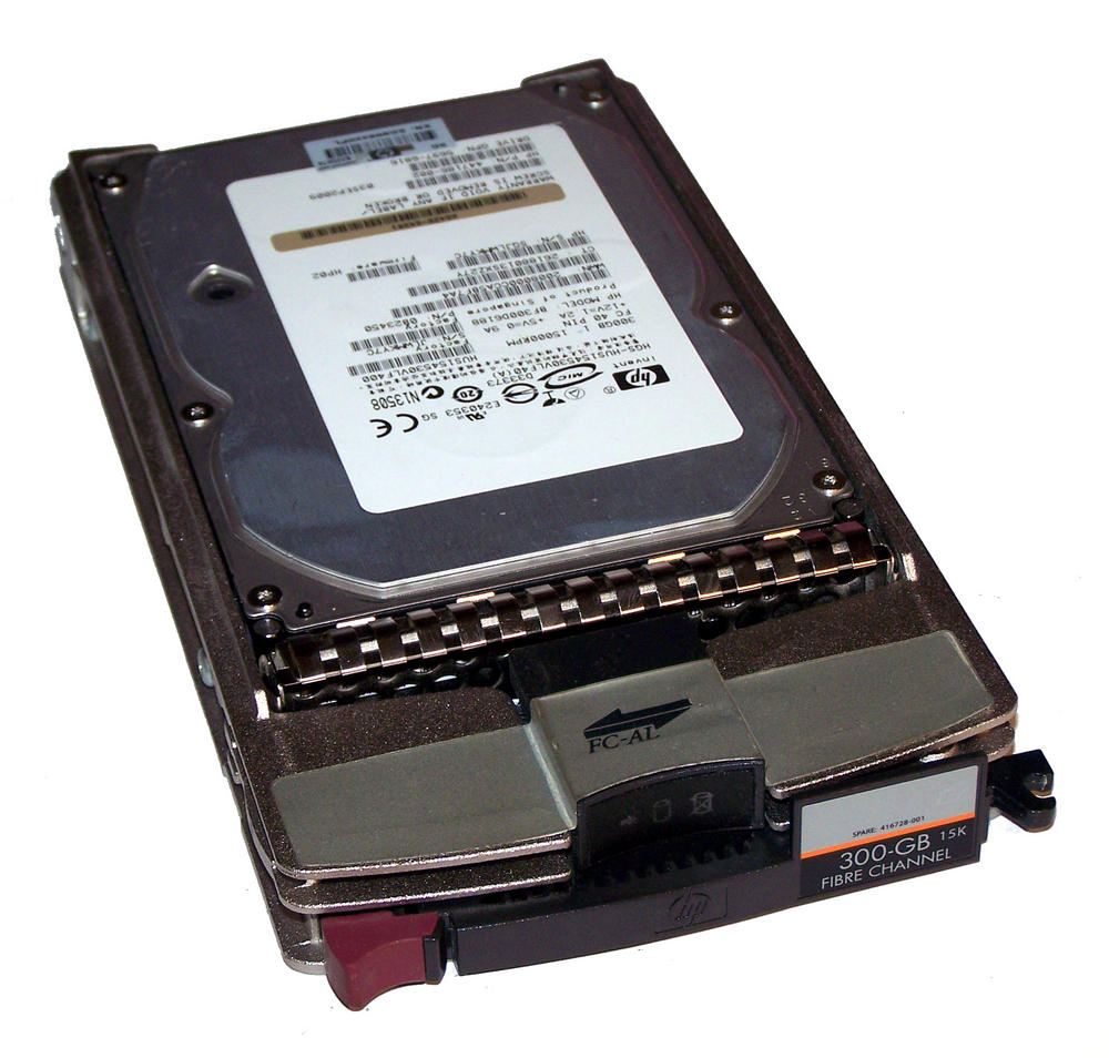 "HP 416728-001 300GB 15K 3.5"" FC-AL Hard Drive in Storage Works Eva Caddy"