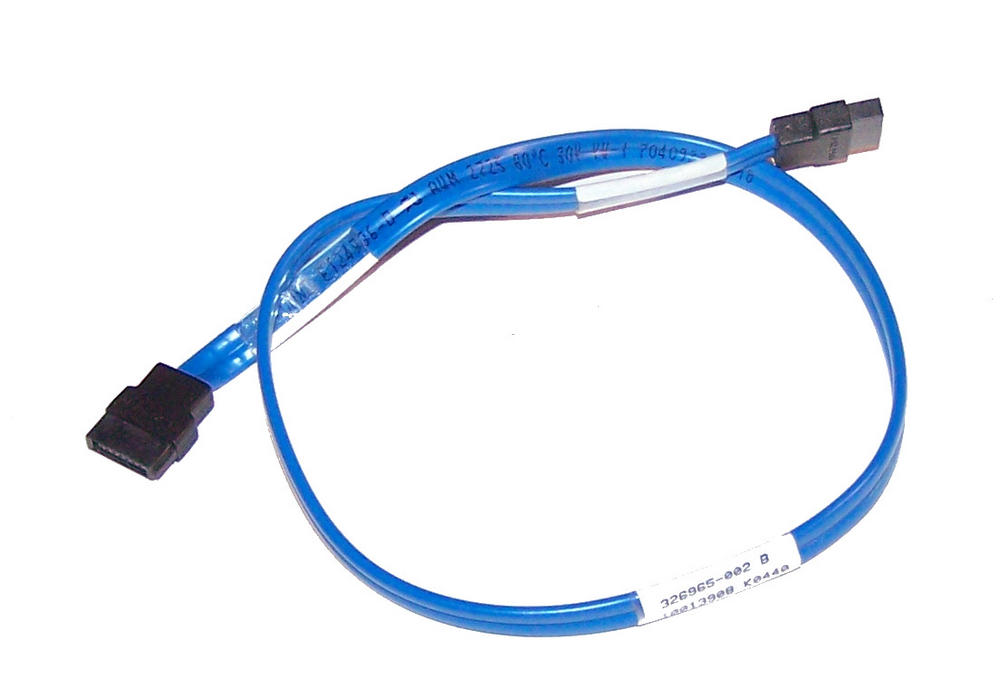 HP 326965-002 Blue 41cm SATA Straight to Straight Cable Thumbnail 1