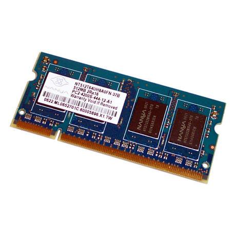 Nanya NT512T64UH8A0FN-37B (512MB DDR2 PC2-4200S 533MHz SO DIMM 200-pin) Memory