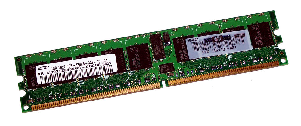 HP 345113-051 (1GB PC2-3200R ECC Reg Server 240-Pin DIMM) | M393T2950BG0-CCCQ0