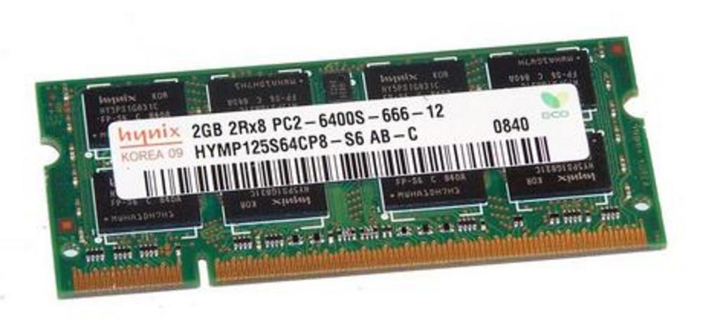 Hynix HYMP125S64CP8-S6 AB-C (2GB DDR2 PC2-6400S 800MHz SODIMM 200pin) RAM Module