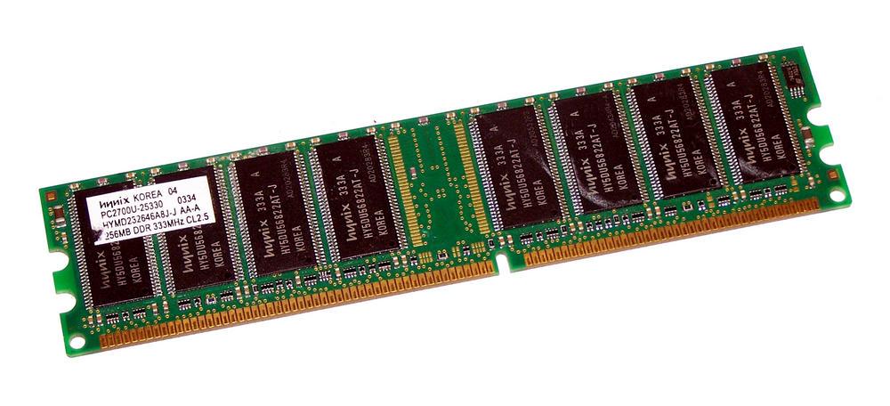 Hynix HYMD232646A8J-J AA-A (256MB DDR PC2700U 333MHz DIMM 184-pin) Memory Module