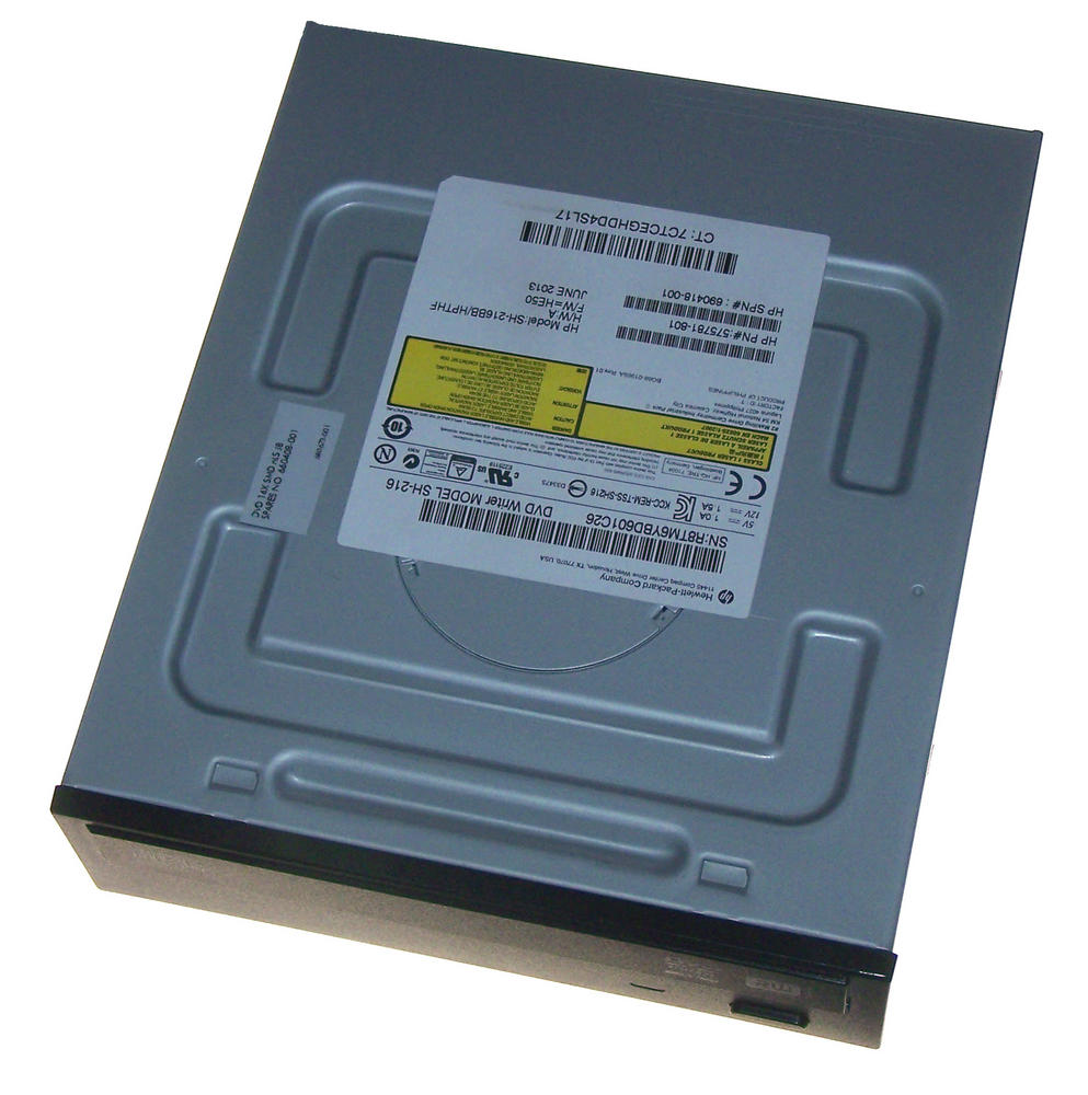 HP 575781-801 Black Bezel SATA H/H DVD DL Recorder Drive | SH-216BB 690418-001 Thumbnail 1
