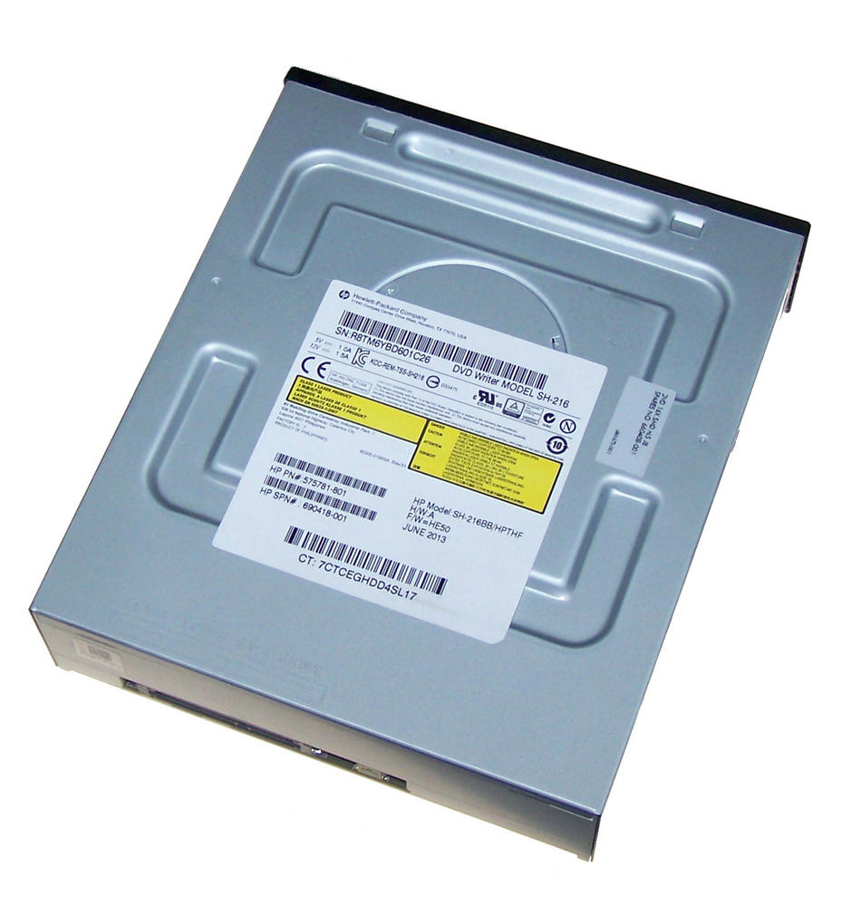 HP 575781-801 Black Bezel SATA H/H DVD DL Recorder Drive | SH-216BB 690418-001 Thumbnail 2