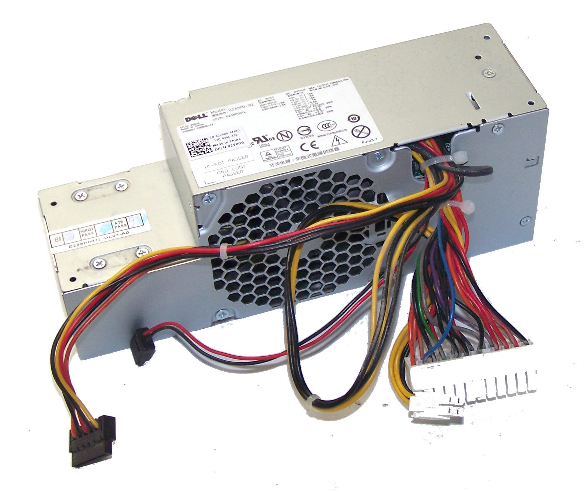 Dell 2V0G6 OptiPlex 380 model DCCY1F 235W Power Supply (Small Form ...