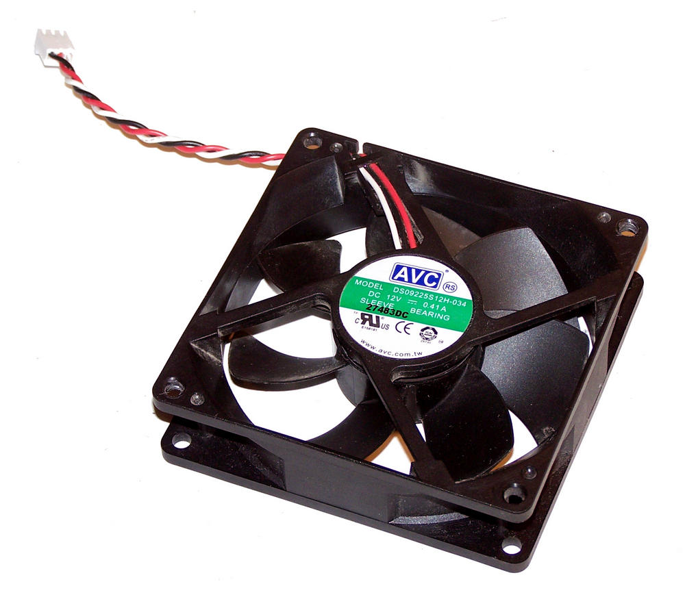 AVC DS09225S12H-034 92mm x 25mm 12VDC 0.41A Case Fan 10cm with 3-Pin 2695 Connec