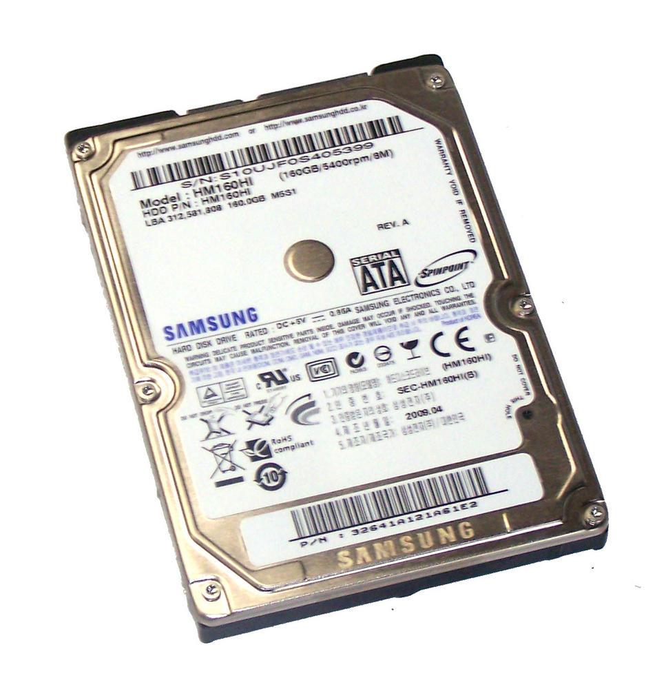"Samsung HM160HI 160GB 5.4K 2.5"" Spinpoint SATA Hard Disk Drive | M5S1 Rev A"