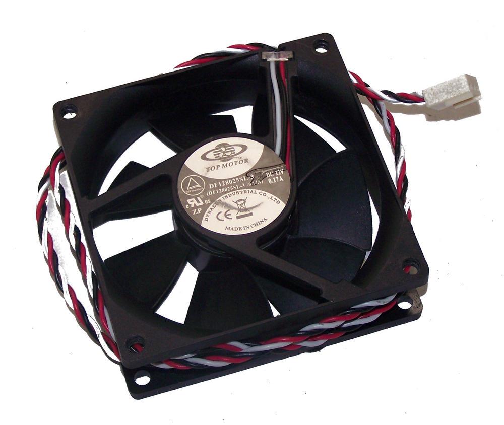 Dynaeon DF128025SL-3 Top Motor 80mm x 25mm 12VDC 0.17A 3-Wire Fan 66cm with 3-pi