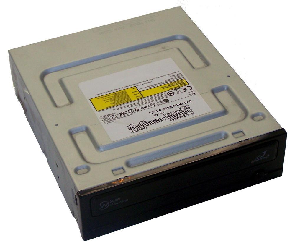 TSST SH-222AB/BEBE SH-222 Half Height SATA DVD Recorder Drive | Black Bezel