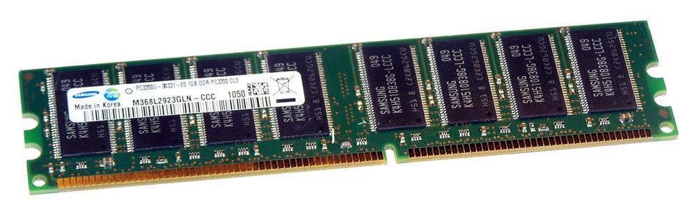 Samsung M368L2923GLN-CCC (1GB DDR PC3200U 400MHz DIMM 184-pin) Memory Module