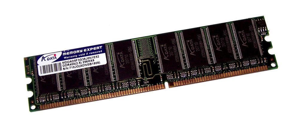 Adata ADNGB1808 (256MB DDR PC3200U 400MHz DIMM 184-pin) Memory Module