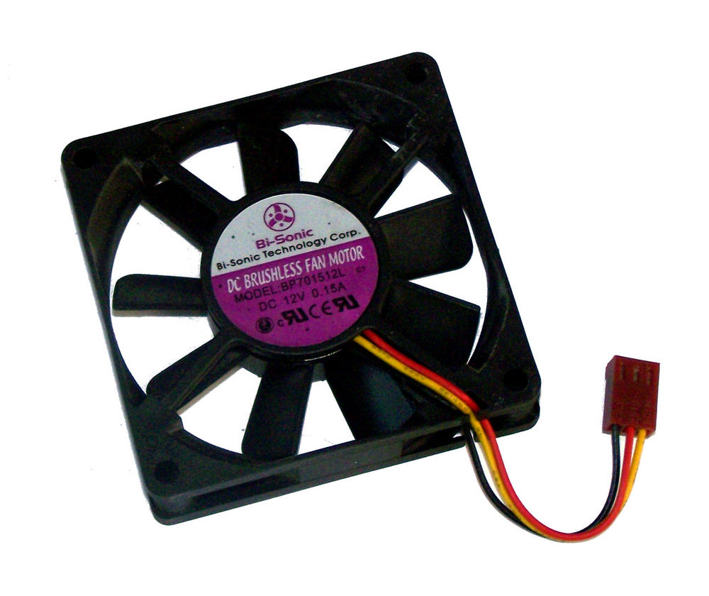 Bi-Sonic BP701512L C1 12VDC 0.15A 70mm x 15mm 3-wire Fan | 5cm type 2510 Connect