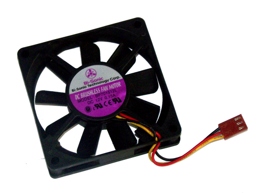 Bi-Sonic BP701512L 12VDC 0.15A 70mm x 15mm 3-wire Fan | 5cm type 2510 Connector